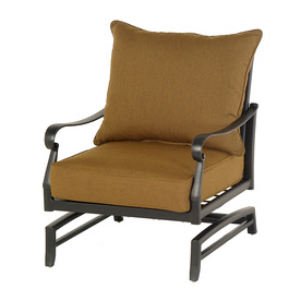 ... Whitley Place Burnished Black Aluminum Cushioned Patio Rocking Chair