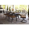 allen + roth Whitley Place Burnished Black/Powder-Coated Rectangle Patio Dining Table