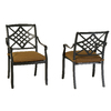 allen + roth Set of 2 Whitley Place Burnished Black/Powder-Coated Cushioned Seat Aluminum Patio Dining Chairs