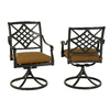 allen + roth Set of 2 Whitley Place Aluminum Swivel Rocker Patio Dining Chairs