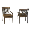 Garden Treasures Set of 2 Herrington Aluminum Patio Dining Chairs