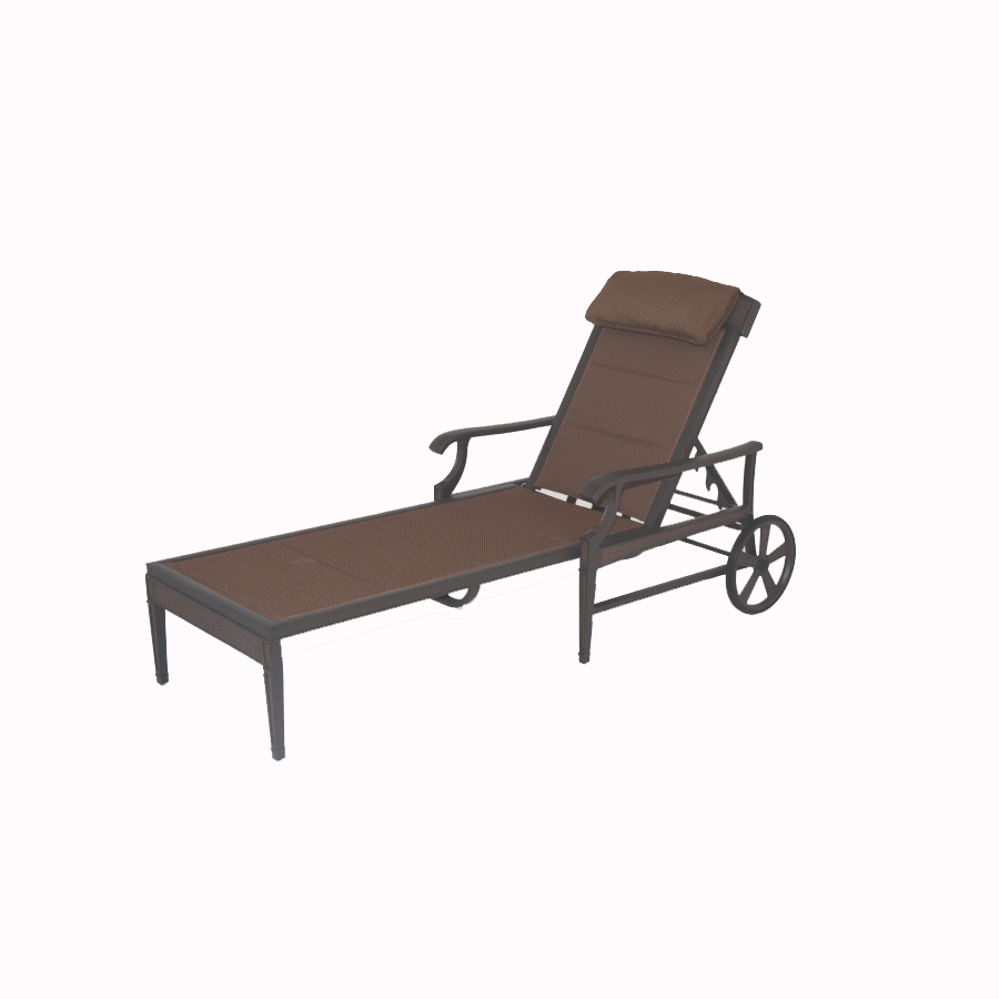 Shop Garden Treasures Herrington Chaise Lounge Patio Chair At