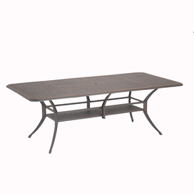 Garden Treasures Herrington 84-in x 42-in Aluminum Rectangle Patio Dining Table