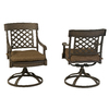Garden Treasures Set Of 2 Herrington Aluminum Swivel Rocker Patio Dining Chairs