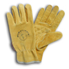 Womanswork Large Yellow Ladies Leather Garden Gloves