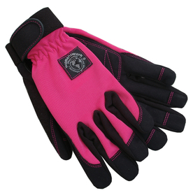 Womanswork Large Red Ladies Leather Garden Gloves
