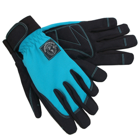 Womanswork Large Blue Ladies Leather Garden Gloves