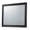 46-in x 36-in Matt Black Rectangular Framed Mirror