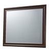 46-in x 36-in Matt Brown Rectangular Framed Mirror