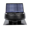 U.S. Sunlight 1,600-CFM Black Galvanized Steel Solar Power Roof Vent