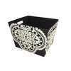 Style Selections 14-in W x 10-in H Black and White Medallion Print Fabric Bin