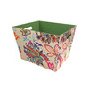 Style Selections 14-in W x 10-in H Colorful Global Floral Print Fabric Bin
