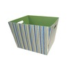 Style Selections 14-in W x 10-in H Colorful Boy Stripe Print Fabric Bin