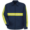 Red Kap X-Large Men's Navy Twill Enhanced Visibility Panel Jacket