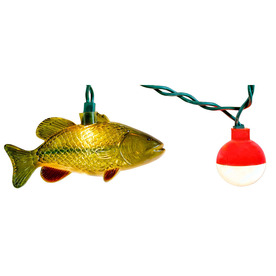 Shop 10 count white fish christmas string lights at for Fish string lights