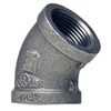 Mueller Proline 2-in Dia 45-Degree Black Iron Elbow Fitting