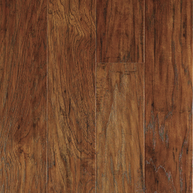 allen + roth 4.85-in W x 3.93-ft L Marcona Hickory Handscraped Laminate Floor Wood Planks