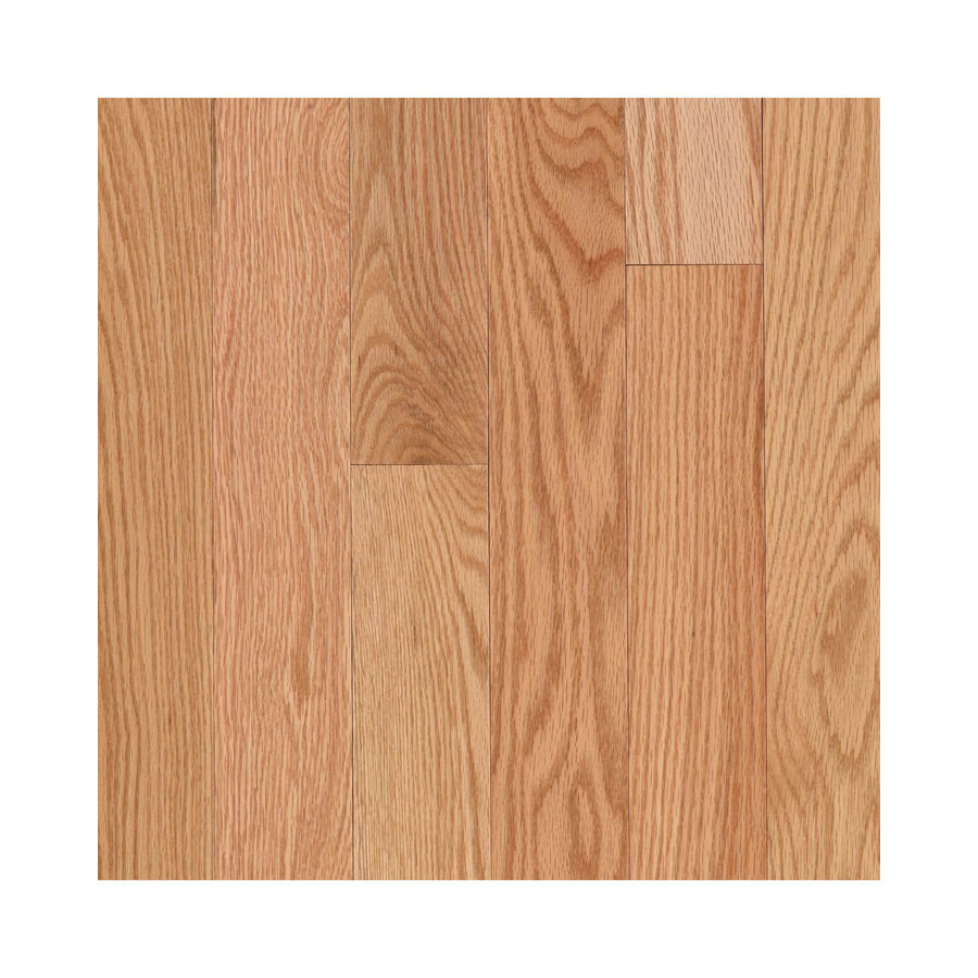 Shop allen roth w prefinished oak hardwood for Natural oak wood flooring