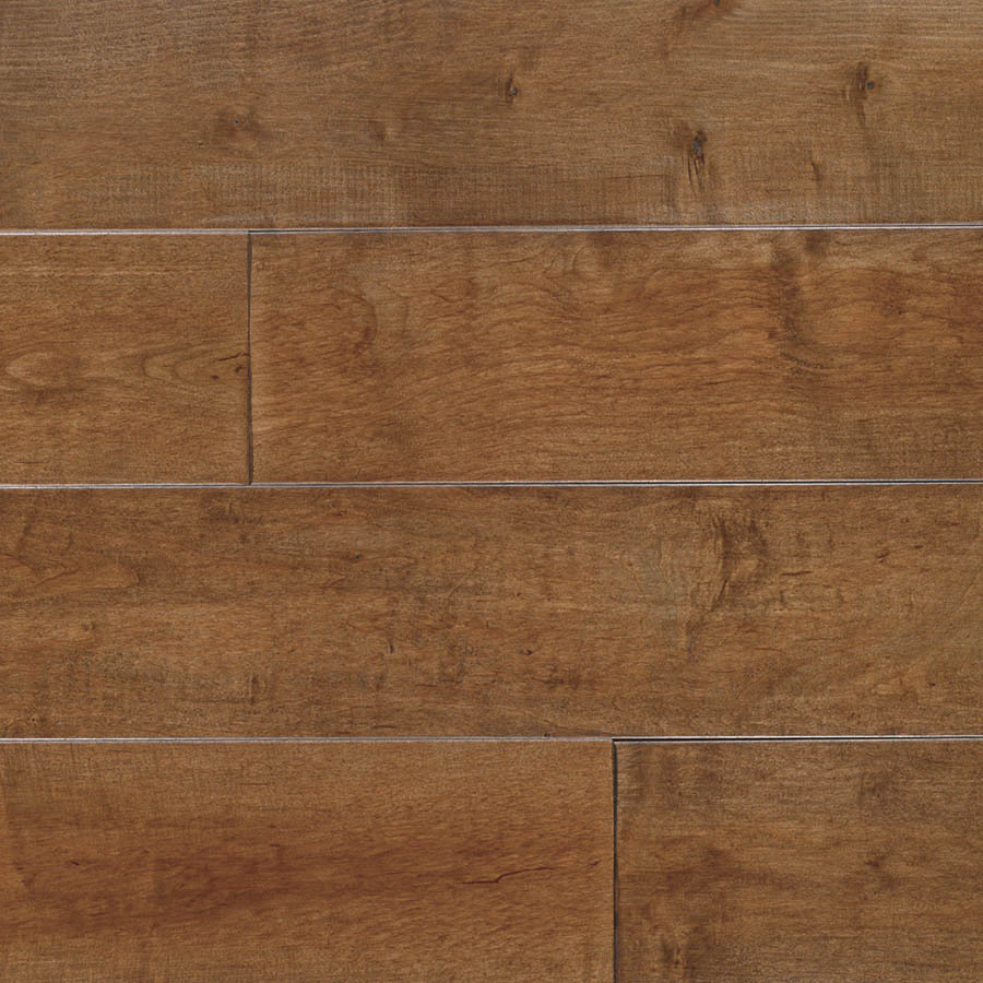 Shop allen roth 5 in w prefinished maple hardwood for Prefinished flooring
