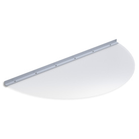 Ultra Protect 41-in x 19-in Clear Polycarbonate Semi Round Basement Window Well Cover