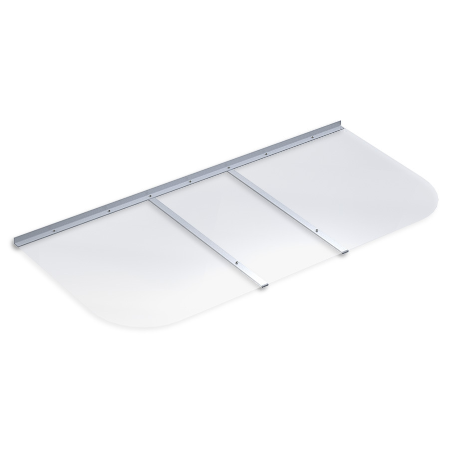 polycarbonate rectangular basement window well cover at