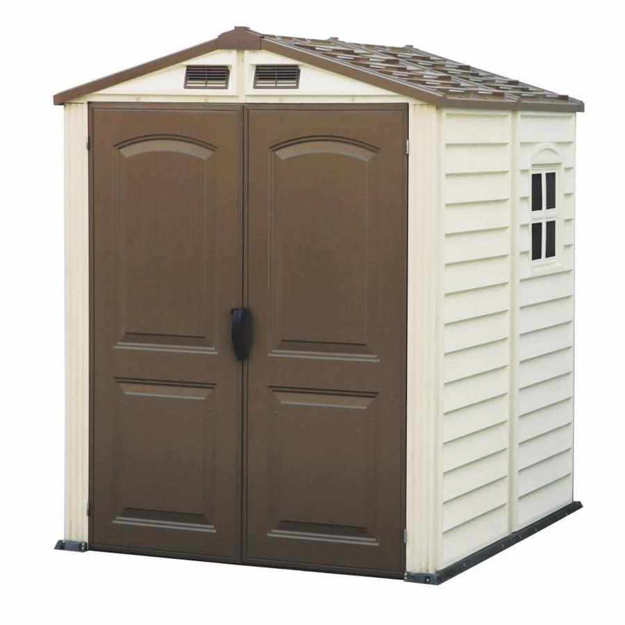 Shop DuraMax Building Products Storage Shed (Common: 6-ft x 6-ft