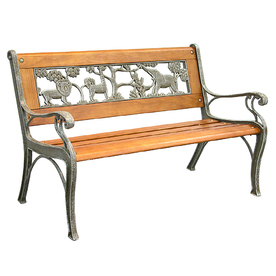 Shop garden treasures 32 in l patio bench at Lowes garden bench