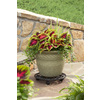 Garden Treasures 17-in L x 17-in D x 2.75-in H Brown Plant Caddy