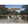 Garden Treasures Natural Granite Granite with Steel Post Umbrella Base