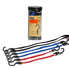 Blue Hawk 12-ft Rubber Core Steel Hook Bungee Cord
