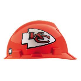 MSA Safety Works Standard Size Kansas City Chiefs NFL Hard Hat