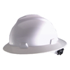 Safety Works Wide Brim Quick Adjusting Ratchet White Hard Hat