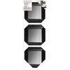 9.5-in x 9.5-in Black Square Framed Wall Mirror