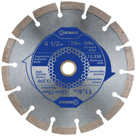 Kobalt 4-1/2-in 1-Tooth Wet or Dry Continuous Diamond-Tipped Steel Circular Saw Blade