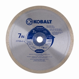 Kobalt 7-in Wet Continuous Circular Saw Blade