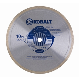 Kobalt 10-in Wet Continuous Circular Saw Blade