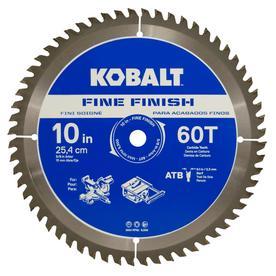 Kobalt 10-in 60-Tooth Segmented Carbide Circular Saw Blade