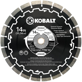 Kobalt 14-in 24-Tooth Wet or Dry Segmented Circular Saw Blade