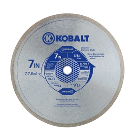 Kobalt 7-in 1-Tooth Wet Continuous Diamond-Tipped Steel Circular Saw Blade