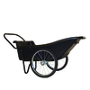 Polar 10-cu ft Poly Utility Cart Wheelbarrow Flat-Free Tires