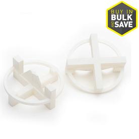 TAVY 100-Pack 1-in W x 1-in L 1/8-in White Plastic Tile Spacers
