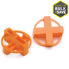 TAVY 100-Pack 1-in W x 1-in L 1/4-in Orange Plastic Tile Spacers