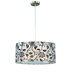Portfolio 18-in Brushed Nickel Island Light with Shade