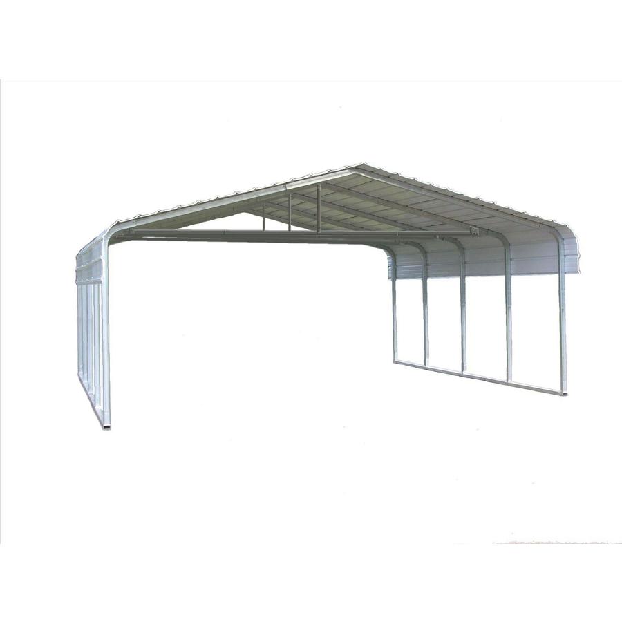Shop VersaTube 20-ft x 20-ft x 7-ft Metal 2-Car Carport at ...