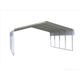VersaTube 20-ft x 20-ft x 7-ft Metal 2-Car Carport