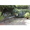 Garden Treasures 35.5-in L Aluminum Patio Bench