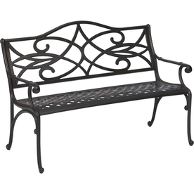 Shop garden treasures 35 5 in l aluminum patio bench at Lowes garden bench