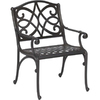 Garden Treasures Waterbridge Mesh-Seat Aluminum Patio Dining Chair