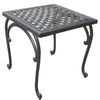 Garden Treasures Waterbridge Place 18.125-in x 18.125-in Powder Coating Aluminum Square Patio Side Table