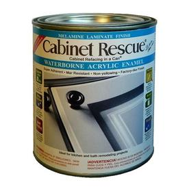 Cabinet Rescue 31 fl oz Interior Eggshell Kitchen and Bath Bright White Paint and Primer in One